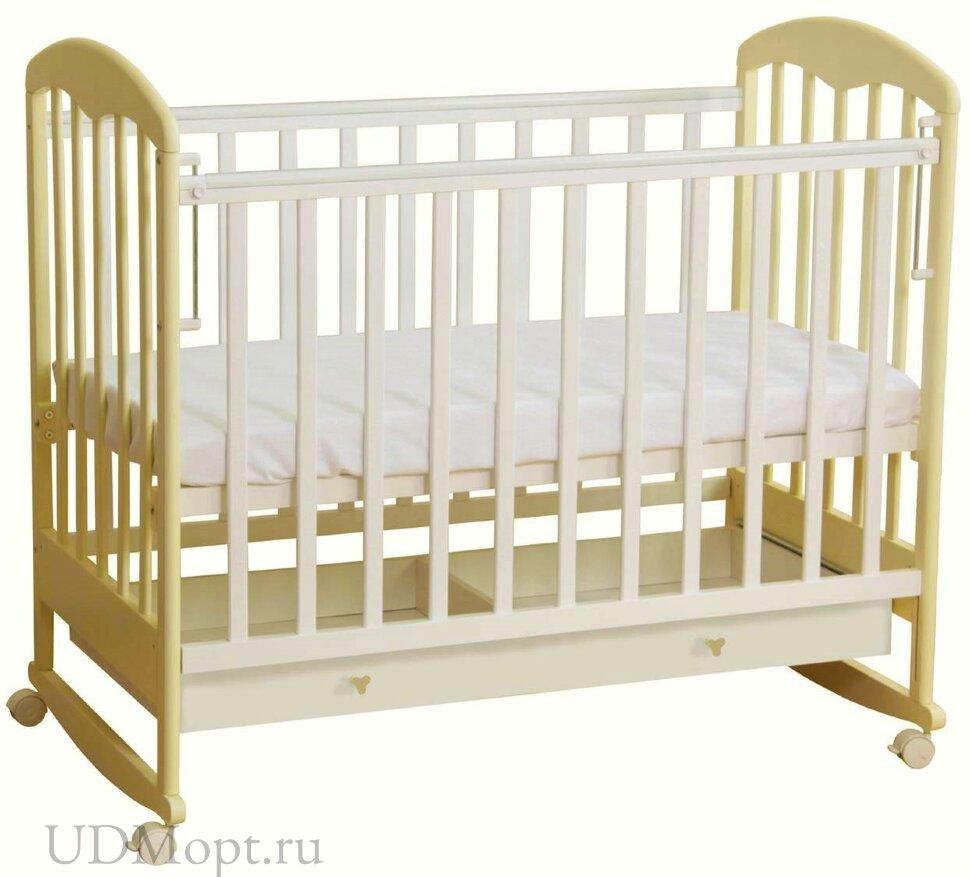 Кровать детская Фея 325 белый-ваниль оптом и в розницу