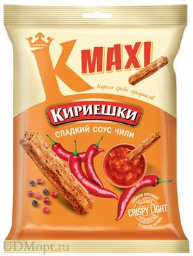 «Кириешки Maxi», сухарики со вкусом сладкого чили, 60г оптом и в розницу
