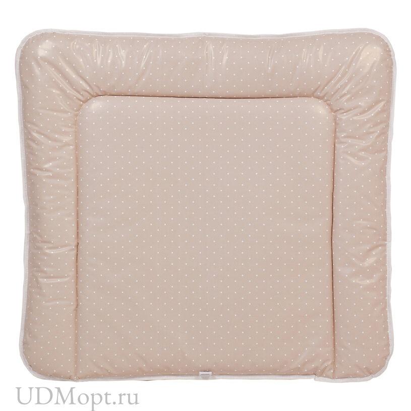 Матрас для пеленания Polini kids Слоник на комод, 77х72 см, макиато оптом и в розницу
