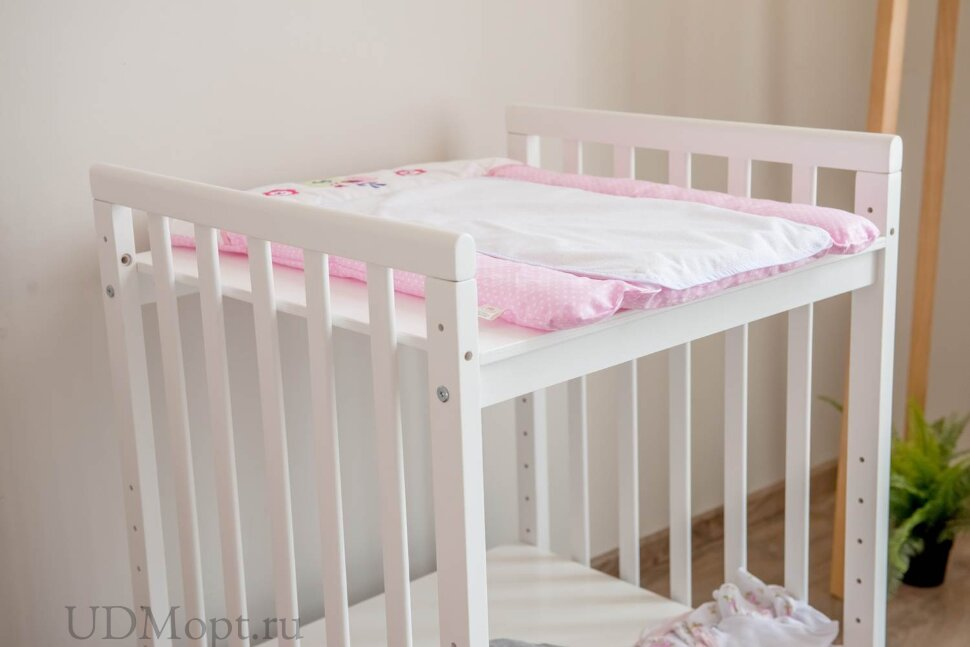Доска пеленальная Polini kids  Joy Весенняя мелодия, мягкая с вышивкой, 70х50 см, розовый оптом и в розницу