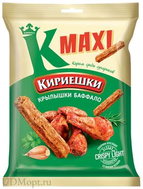 «Кириешки Maxi», сухарики со вкусом крылышек Баффало, 60г оптом и в розницу
