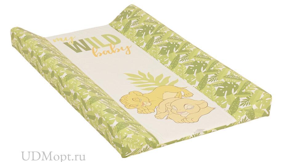 Доска пеленальная Polini kids Disney baby Король Лев, для детских кроватей, зеленый оптом и в розницу