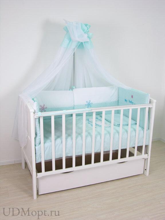 """Комплект в кроватку Fairy """"Белые кудряшки"""" 7 предметов  оптом и в розницу"""
