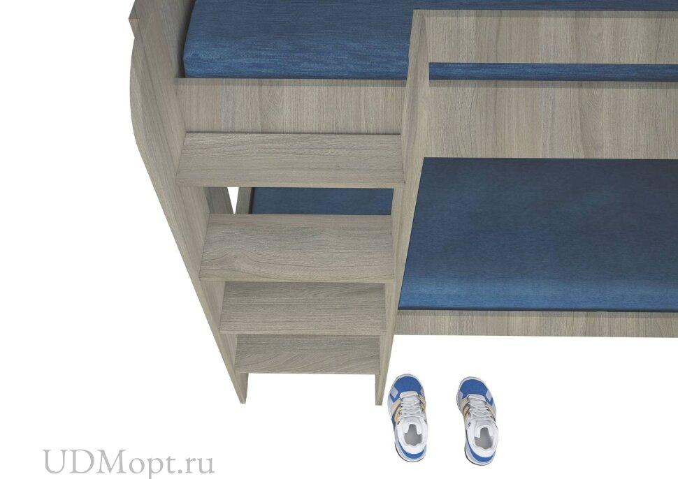 Кровать 2-х ярусная Polini kids Simple 5000, вяз-белый оптом и в розницу