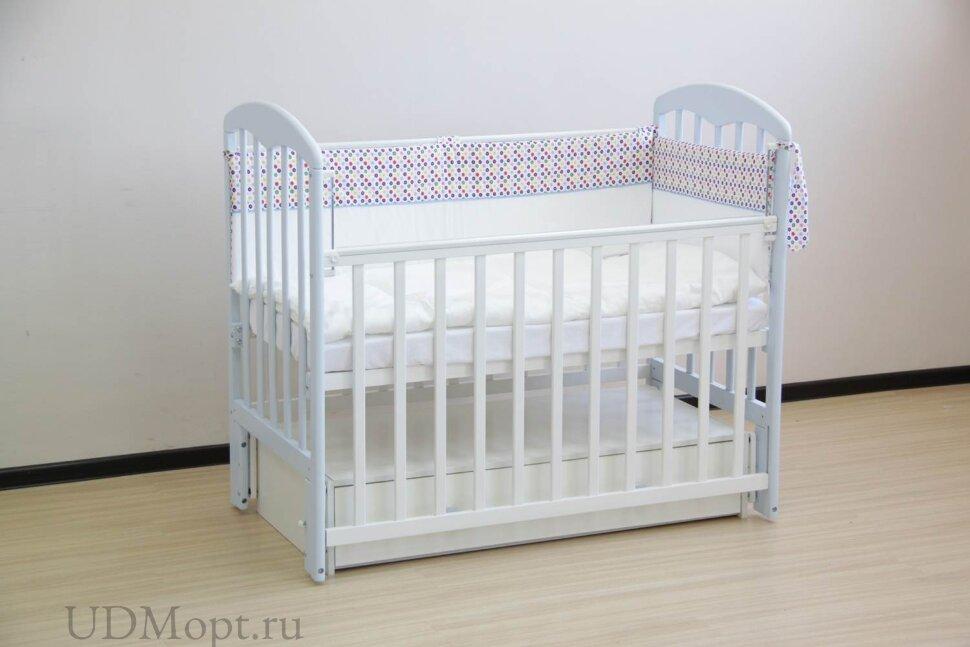 Кровать детская Фея 328 белый-лазурь оптом и в розницу
