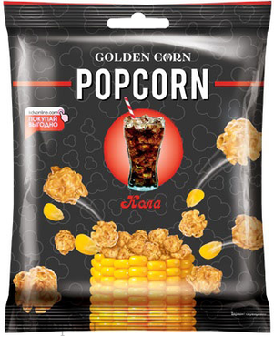 «Golden Corn», попкорн карамельный со вкусом колы, 50г оптом и в розницу
