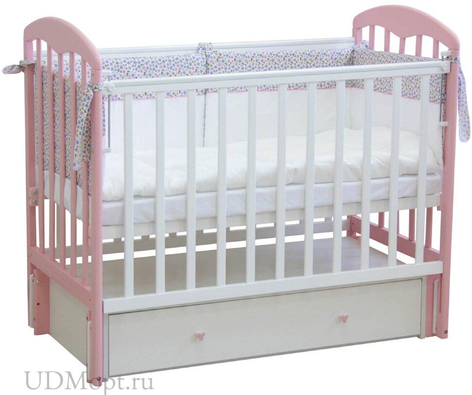 Кровать детская Фея 328 белый-магнолия оптом и в розницу