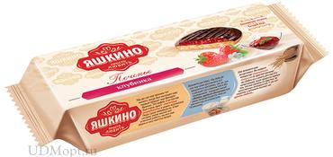 «Яшкино», печенье «Клубника», сдобное, 137г оптом и в розницу