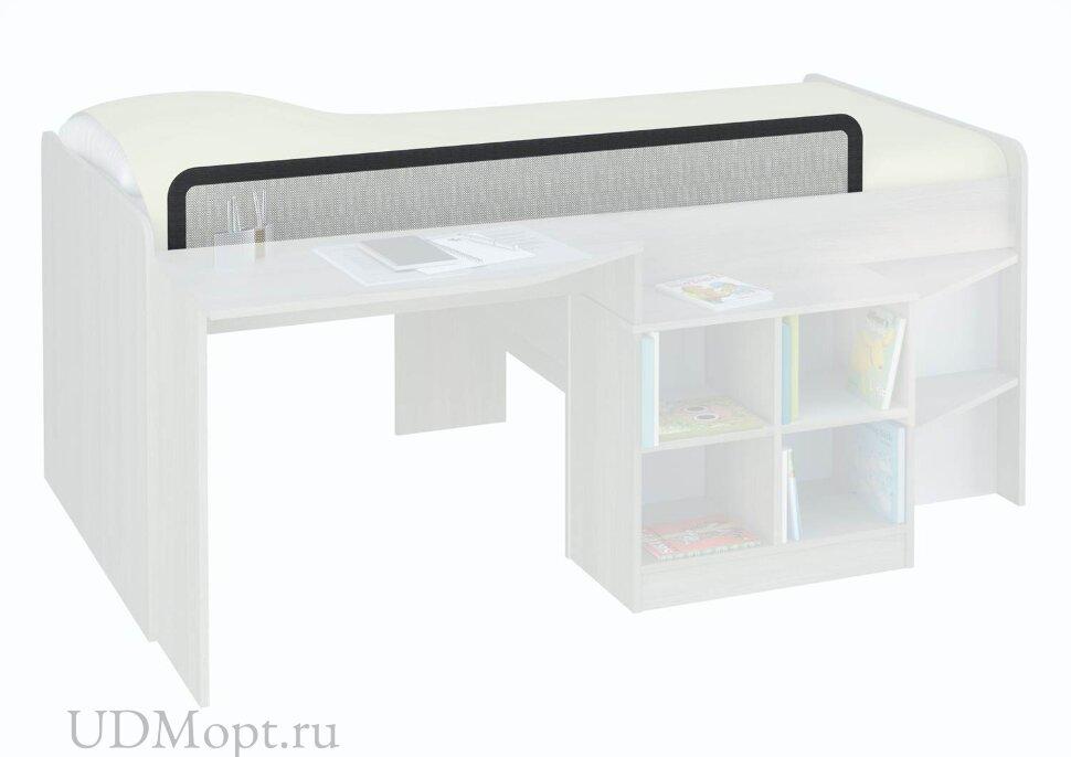 Кровать-чердак детская Polini kids Simple со столом и полками 4000 , вяз-белый оптом и в розницу