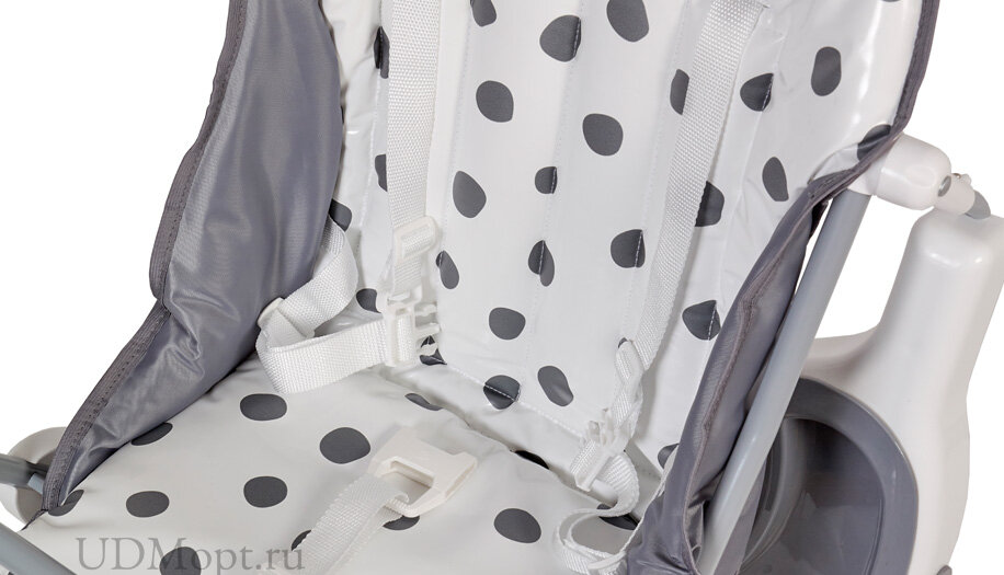 Стульчик для кормления Polini kids Disney baby 252 101 Далматинец, серый оптом и в розницу