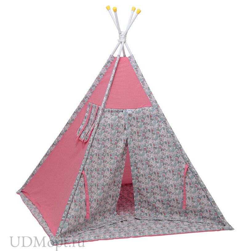 Палатка-вигвам детская Polini kids Disney Последний богатырь, принцесса розовый оптом и в розницу
