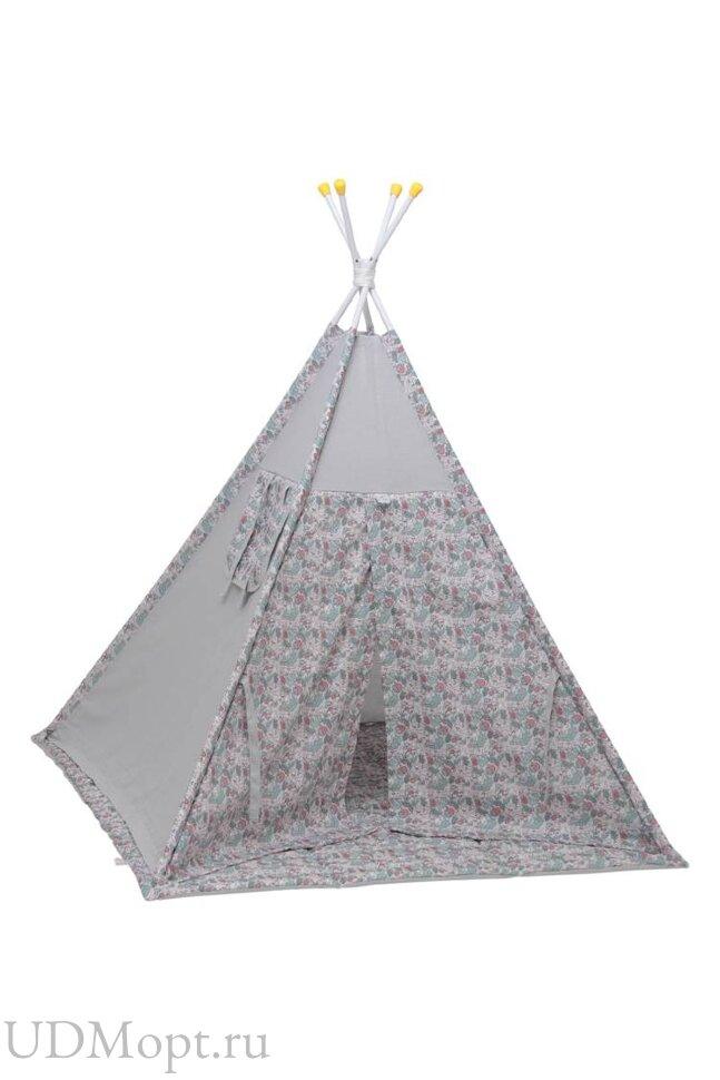 Палатка-вигвам детская Polini kids Disney Последний богатырь, принцесса серый оптом и в розницу
