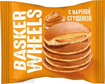 «Basker Wheels», pancake с вареной сгущенкой, 36г оптом и в розницу