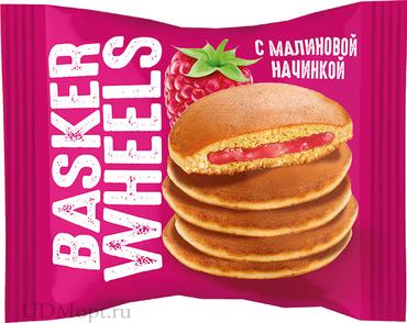 «Basker Wheels», pancake с джемом с соком малины, 36г оптом и в розницу