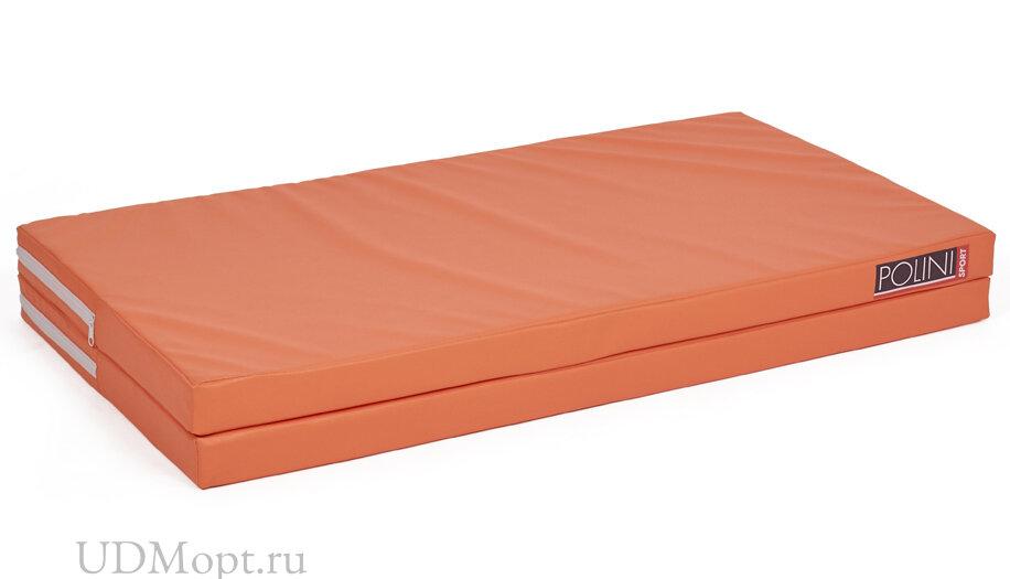 Мат Polini Sport 95х100х5 см, складной, оранжевый оптом и в розницу