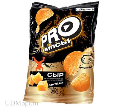 «PRO-Чипсы», чипсы со вкусом сыра, произведены из свежего картофеля, 150г оптом и в розницу