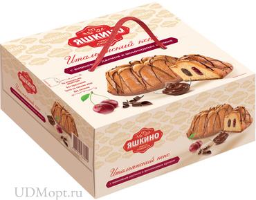 «Яшкино», кекс с вишнёвым джемом и шоколадным кремом, 500г оптом и в розницу