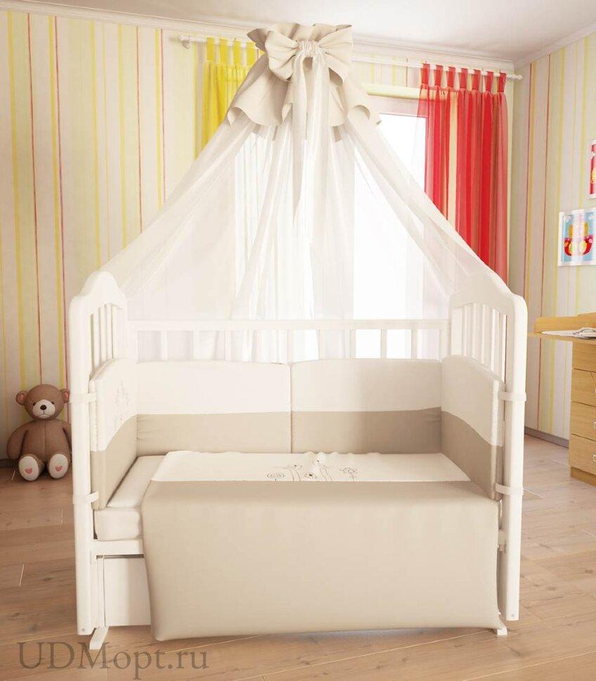 """Комплект в кроватку Fairy """"Волшебная полянка"""" 7 предметов  оптом и в розницу"""