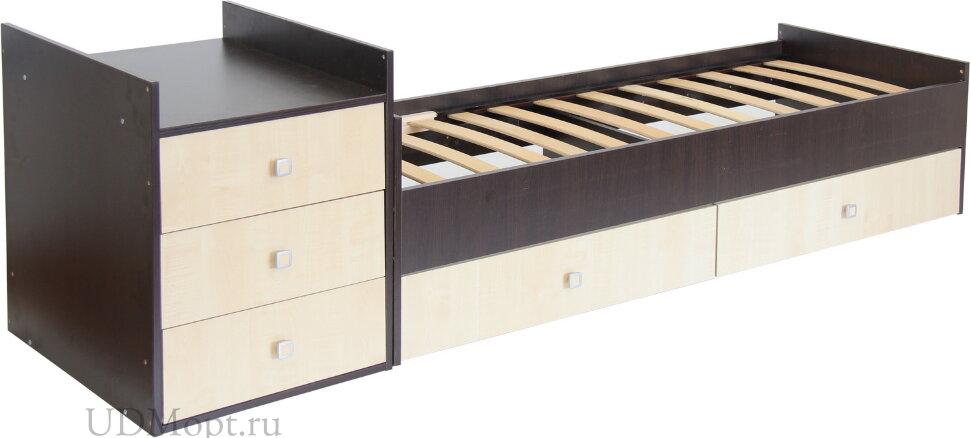 Кровать детская Фея 1000 венге-клён оптом и в розницу