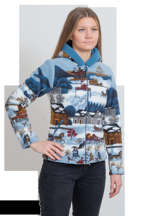 ***Куртка женская Памир-1 / флис-мех / рождество ((52 / 158-164)) оптом и в розницу