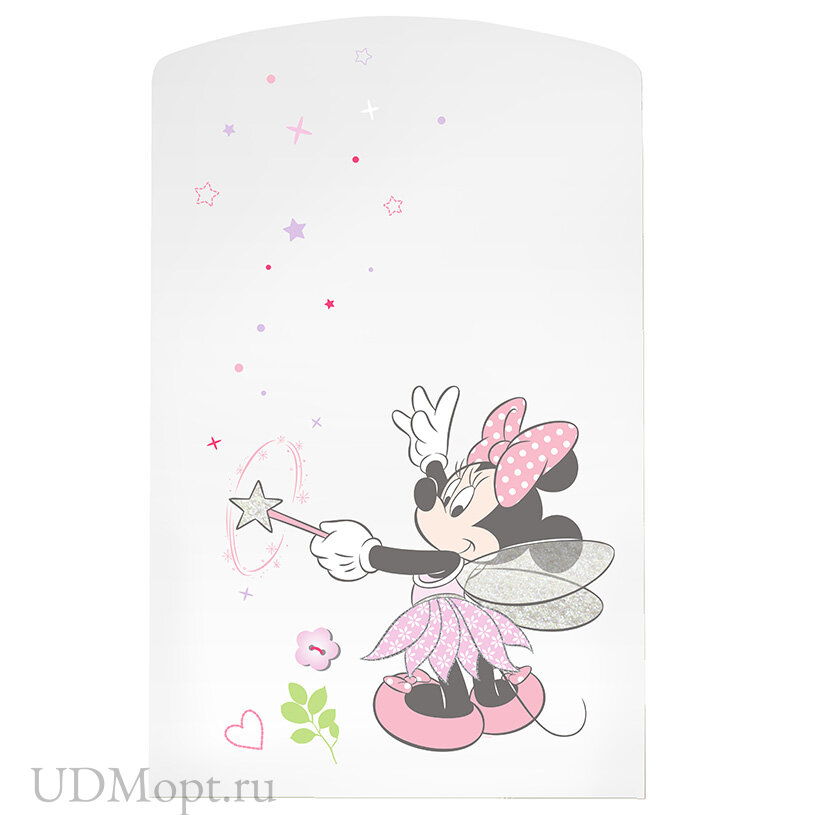 """Кроватка детская Polini kids Disney baby 750 """"Минни Маус-Фея"""", белый-розовый оптом и в розницу"""