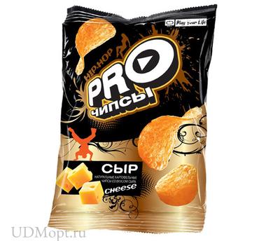 «PRO-Чипсы», чипсы со вкусом сыра, произведены из свежего картофеля, 60г оптом и в розницу