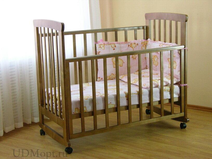Кровать детская Фея 500 темный мед оптом и в розницу