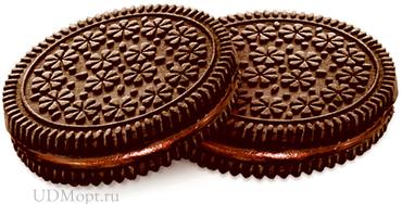 Печенье–сэндвич с шоколадно-ореховым вкусом (коробка 4кг) оптом и в розницу