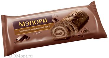 «Мэлори», рулет бисквитный с какао, 200г оптом и в розницу