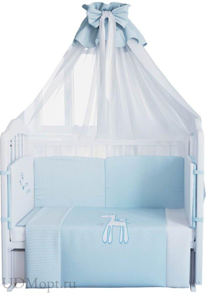 """Комплект в кроватку Fairy """"Жирафик"""" 7 предметов  оптом и в розницу"""
