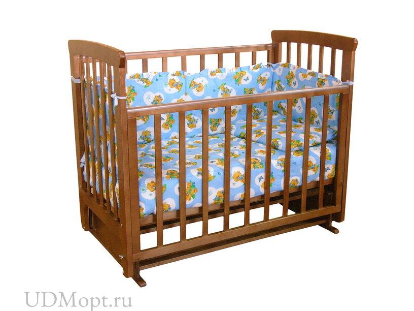 Кровать детская Фея 510 темный мед оптом и в розницу