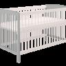 Кроватка детская Polini kids Simple 101, серый-белый оптом и в розницу