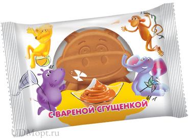 Бисквит с варёной сгущенкой, 30г оптом и в розницу