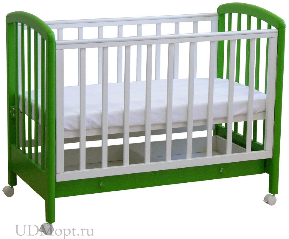 Кровать детская Фея 600 белый-лайм оптом и в розницу