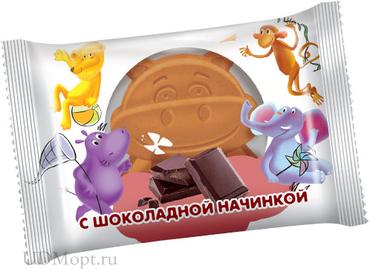 Бисквит с шоколадной начинкой, 30г оптом и в розницу