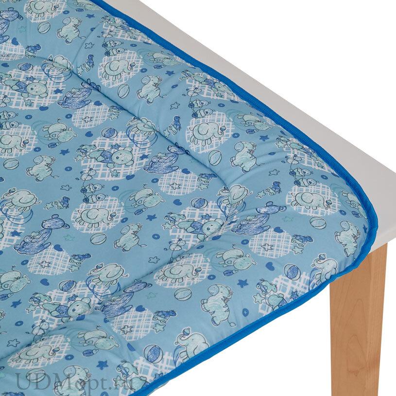 Матрас для пеленания Фея на комод, голубой оптом и в розницу