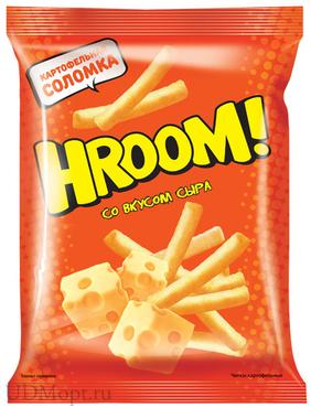 «Hroom», чипсы со вкусом сыра, 50г оптом и в розницу