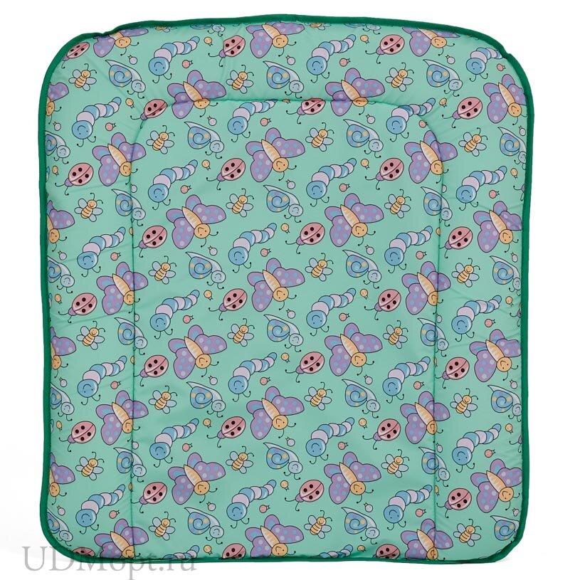 Матрас для пеленания Фея на комод, зеленый оптом и в розницу
