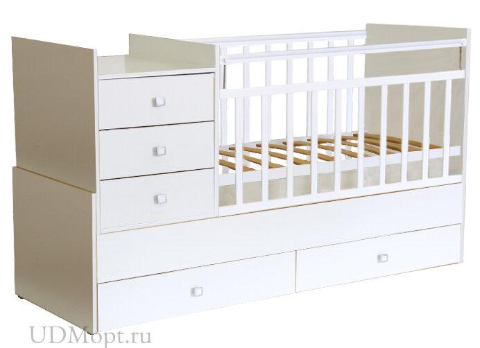 Кровать детская Фея 1000 белая оптом и в розницу