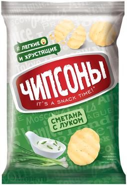 «Чипсоны», чипсы со вкусом сметаны и лука, 40г оптом и в розницу