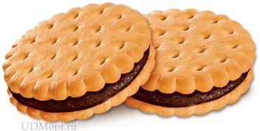Печенье–сэндвич с шоколадным вкусом (коробка 3,4кг) оптом и в розницу