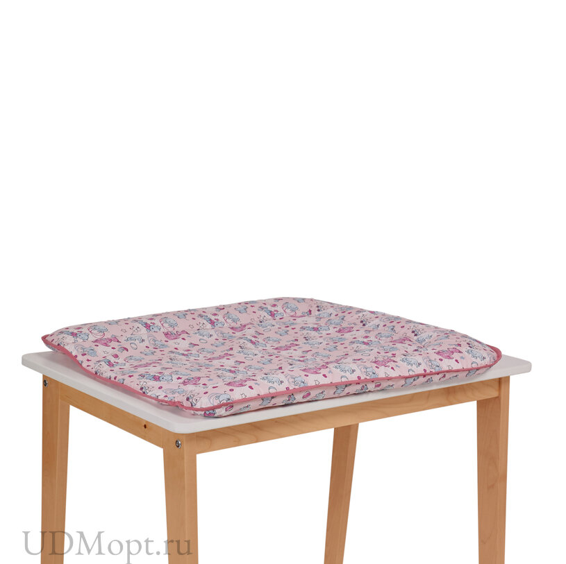 Матрас для пеленания Фея на комод, розовый оптом и в розницу