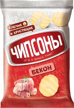 «Чипсоны», чипсы со вкусом бекона, 40г оптом и в розницу