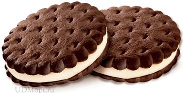 Печенье–сэндвич с шоколадно-сливочным вкусом (коробка 3,4кг) оптом и в розницу