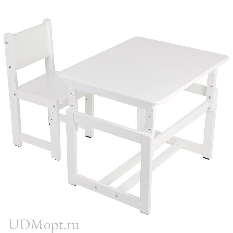Комплект растущей детской мебели Polini kids Eco 400 SM, 68х55 см, белый оптом и в розницу