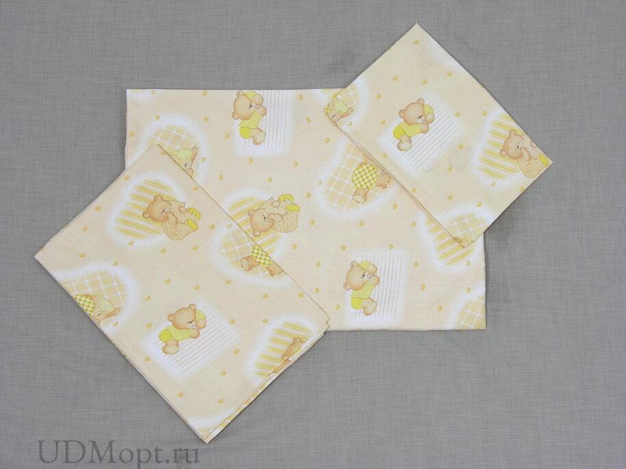 """Комплект в кроватку Фея """"Мишки"""" 10 предметов, желтый оптом и в розницу"""