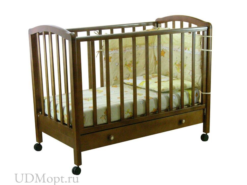 Кровать детская Фея 600 темный мед оптом и в розницу