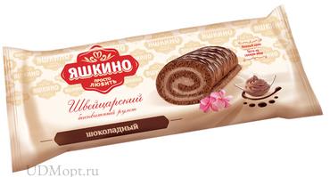 «Яшкино», рулет бисквитный шоколадный, 200г оптом и в розницу