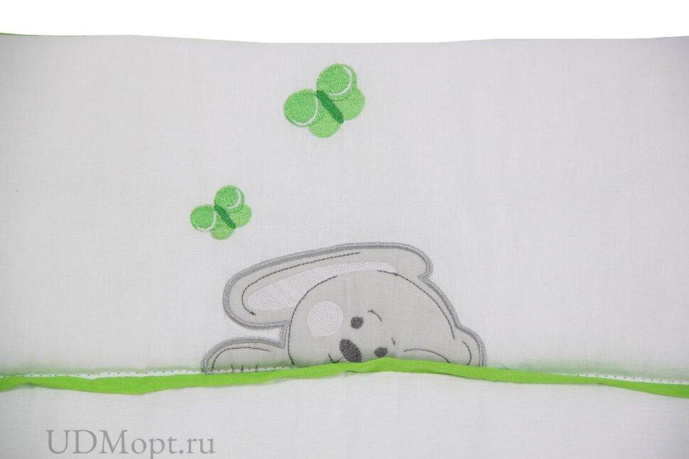 """Доска пеленальная Polini kids мягкая на комод """"Зайки"""" зеленый, 85х75см оптом и в розницу"""