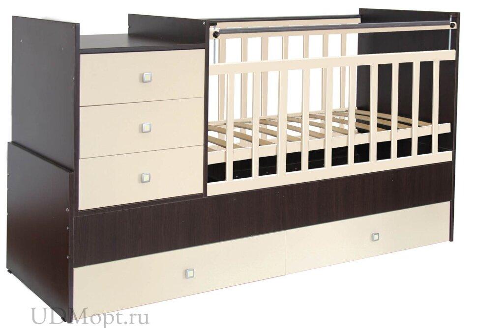 Кровать детская Фея 1000 венге-бежевый оптом и в розницу